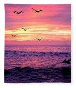 Cabo San Lucas Sunrise Fleece Blanket
