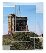 Cabot Tower Montage Fleece Blanket