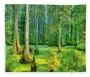 Cache River Swamp Fleece Blanket