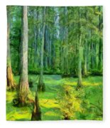 Cache River Swamp Fleece Blanket