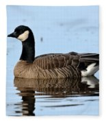 Cackling Goose In Water Fleece Blanket