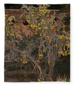 Cacti Along The Garden Wall Fleece Blanket