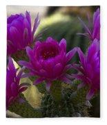 Cacti Flower Bouquet  Fleece Blanket