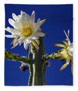 Cactus Blooms Fleece Blanket