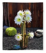 Cactus Blooms Fleece Blanket