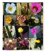 Cactus Collage Fleece Blanket