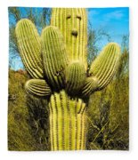 Cactus Face Fleece Blanket