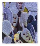 Cactus Faces Fleece Blanket