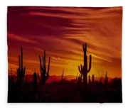 Cactus Glow Fleece Blanket