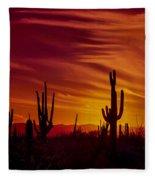 Cactus Glow Fleece Blanket