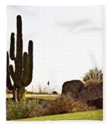 Cactus Golf Fleece Blanket