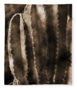 Cactus Sepia Tone Panama Fleece Blanket
