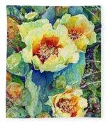Cactus Splendor II Fleece Blanket