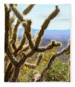 Cactus View Fleece Blanket