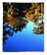 Caddo Lake Reflections Fleece Blanket