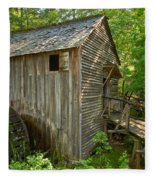 Cades Cove Grist Mill Closeup Fleece Blanket