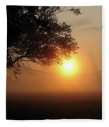Cades Cove Sunrise Fleece Blanket