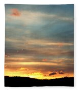 Cades Cove Sunset Fleece Blanket