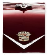 Cadillac Emblem And Hood Ornament Fleece Blanket