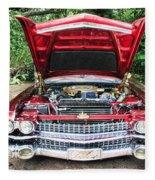 Cadillac Engine Fleece Blanket