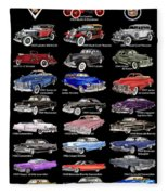 Never Enough Cadillacs  Fleece Blanket