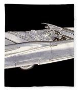 1963 64 Cadillac Roadster Concept Fleece Blanket