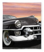 Cadillac Sunset Fleece Blanket