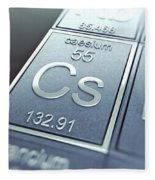 Caesium Chemical Element Fleece Blanket