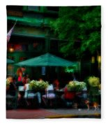 Cafe Alfresco Fleece Blanket