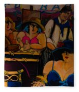 Cafe Bar In Montmartre Fleece Blanket