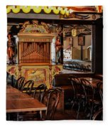Cafe Chez Eugene - Montmartre Fleece Blanket