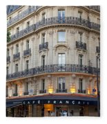 Cafe Francais Fleece Blanket
