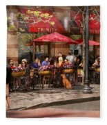 Cafe - Hoboken Nj - Cafe Trinity  Fleece Blanket