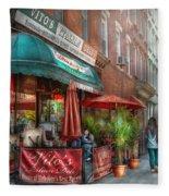 Cafe - Hoboken Nj - Vito's Italian Deli  Fleece Blanket