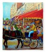 Cafe La Grande Terrasse Fleece Blanket