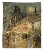 Cafe La Marin. Paris Fleece Blanket