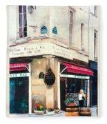 Cafe Le Barometre In Paris Fleece Blanket