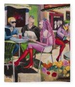 Cafe Marseille Fleece Blanket