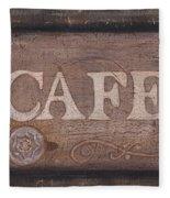 Cafe Sign Fleece Blanket