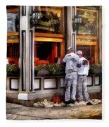 Cafe - The Painters Fleece Blanket