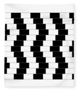 Cafe Wall Illusion Fleece Blanket