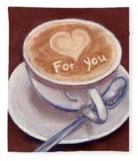 Caffe Latte Fleece Blanket