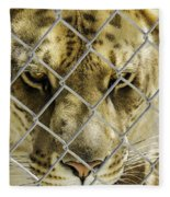 Caged Liger Fleece Blanket