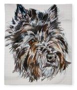 Cairn Terrier Martha Fleece Blanket