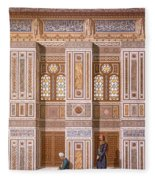 Cairo Interior Of The Mosque Fleece Blanket