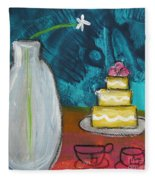 Cake And Tea For Two Fleece Blanket