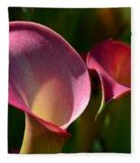 Cala Lilies Light And Shadow Fleece Blanket