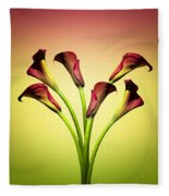 Cala Lily 6 Fleece Blanket