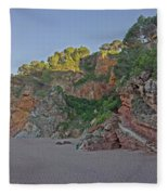 Cala Moreta In Costa Brava, Girona Fleece Blanket