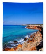 Cala Saona On Formentera Fleece Blanket